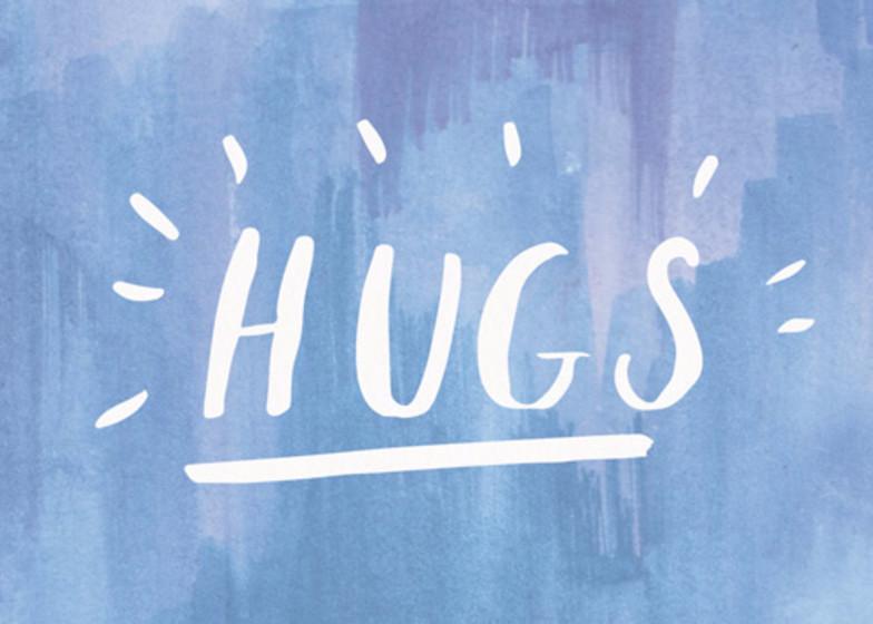 Hugs | Personalised Greeting Card
