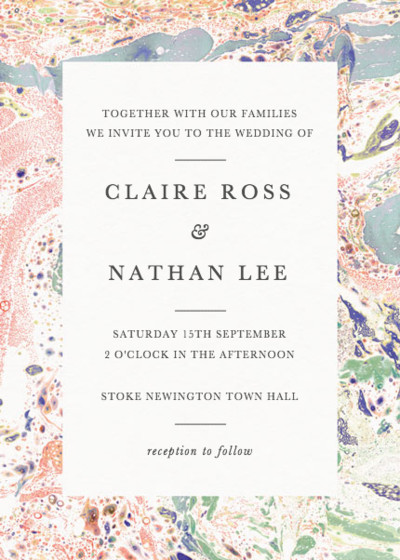 Marbre Rouge | Personalised Wedding Invitation