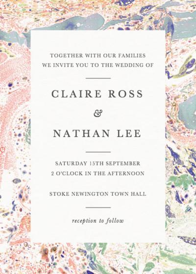 Marbre Rouge | Personalised Wedding Invitation