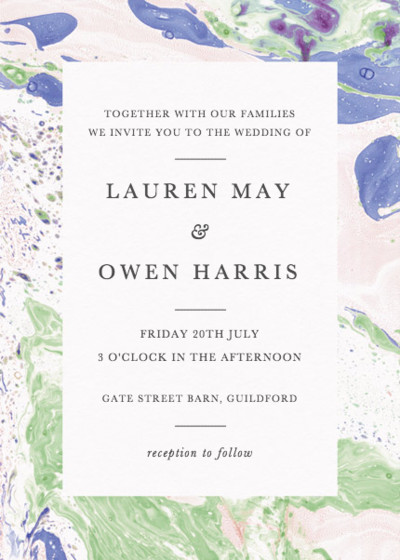 Marbre Vert | Personalised Wedding Invitation
