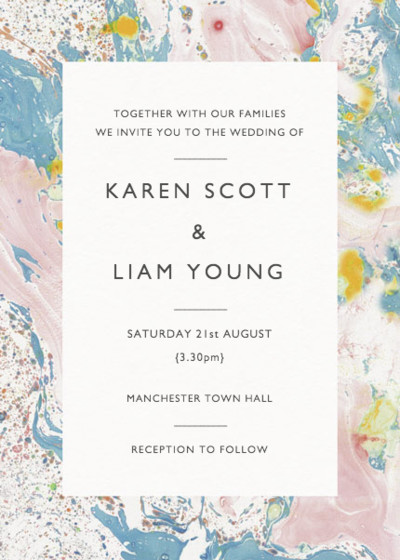 Marbre Rose | Personalised Wedding Invitation