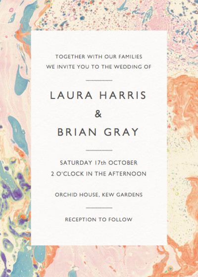Marbre Pêche | Personalised Wedding Invitation