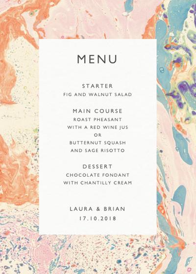 Marbre Pêche | Personalised Menu