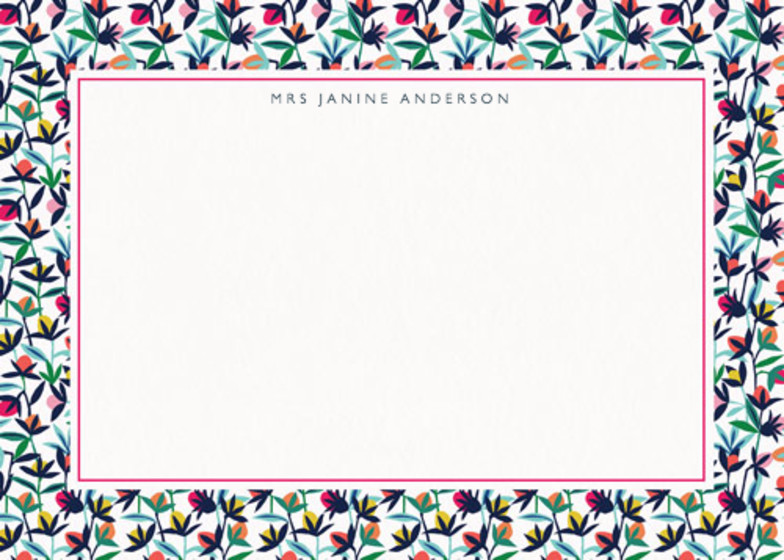 Floral Buds | Personalised Stationery Set