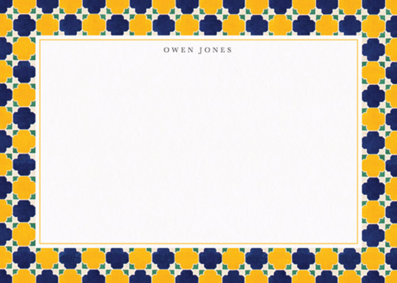 Moresque Tiles | Personalised Stationery Set
