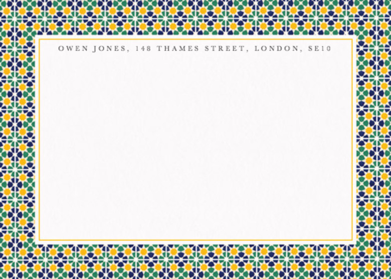 Alhambra Mosaic | Personalised Stationery Set