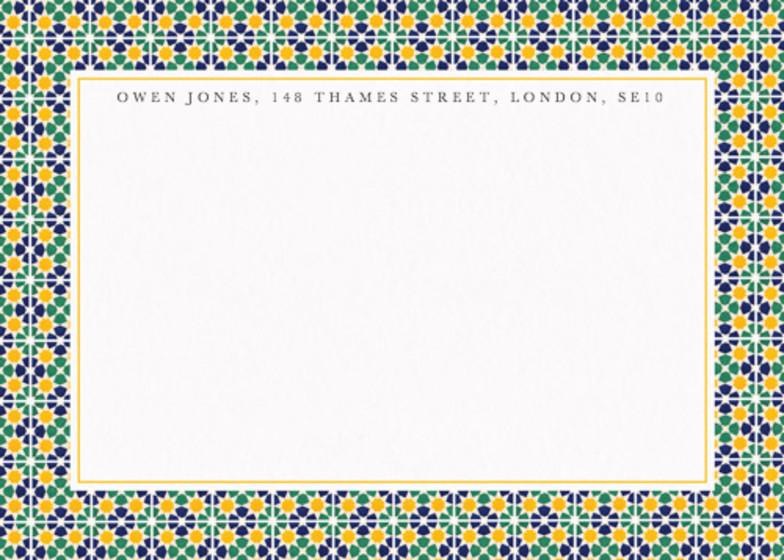 Alhambra Mosaic   Personalised Stationery Set