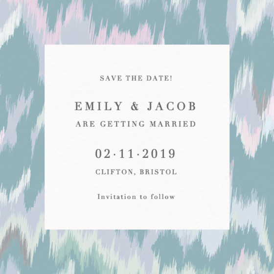 Tiger Palm Lilac | Personalised Save The Date