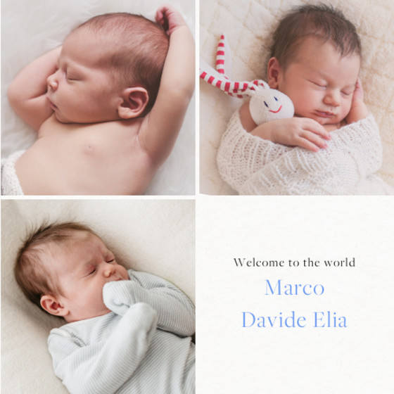 Baby Trio | Personalised Birth Announcement