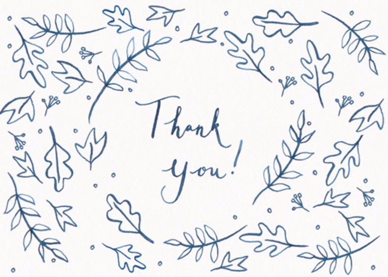 Leafy Thank You | Personalised Thank You Card Set