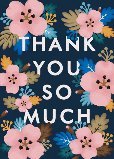 Floral Thank You | Personalised Thank You Card Set