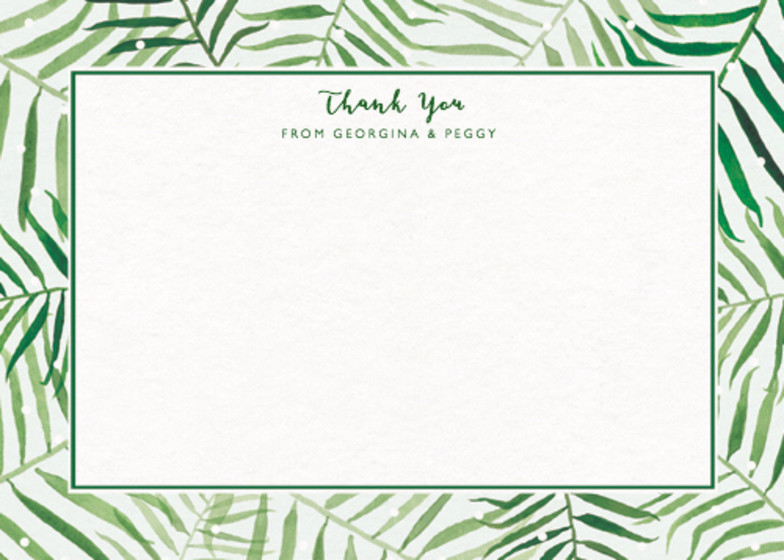 Palm Border | Personalised Stationery Set