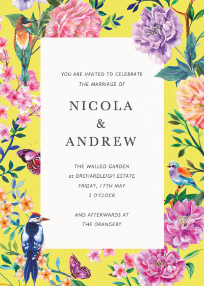 Duchess Garden | Personalised Wedding Invitation