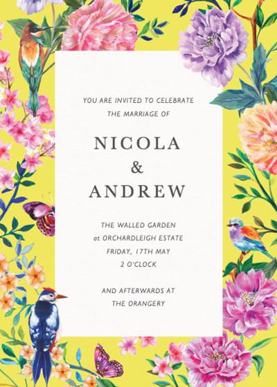 Duchess Garden | Personalised Wedding Invitation