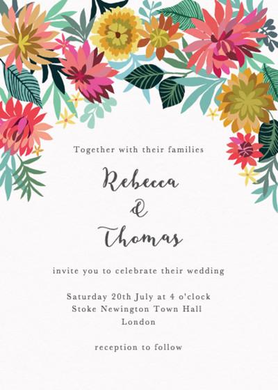 Dahlia Garden | Personalised Wedding Invitation