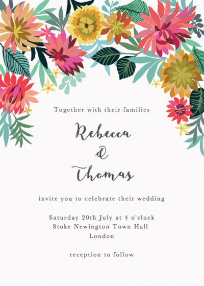 Dahlia Garden | Personalised Wedding Invitation
