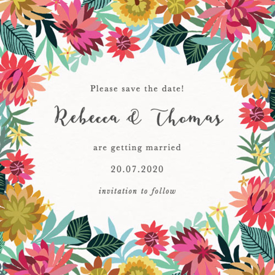 Dahlia Garden | Personalised Save The Date