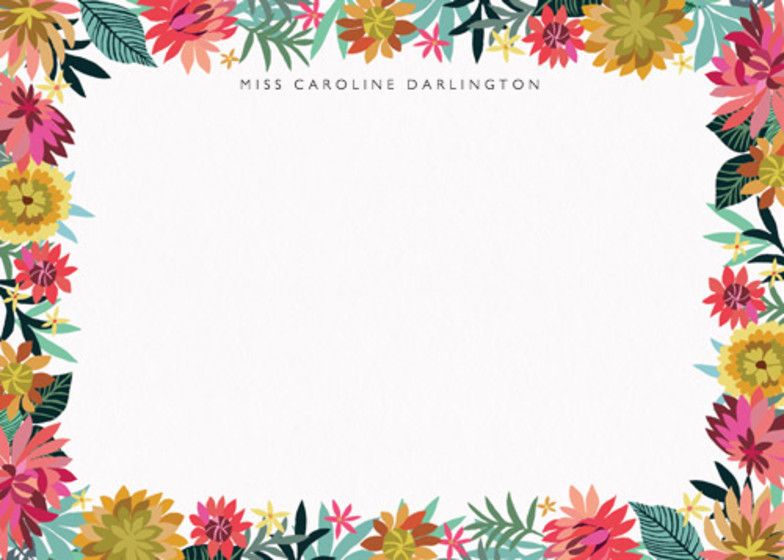 Dahlia Garden | Personalised Stationery Set