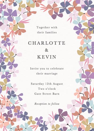 Hortensia Lilac | Personalised Wedding Invitation