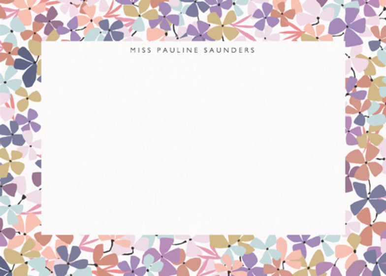 Hortensia Lilac | Personalised Stationery Set