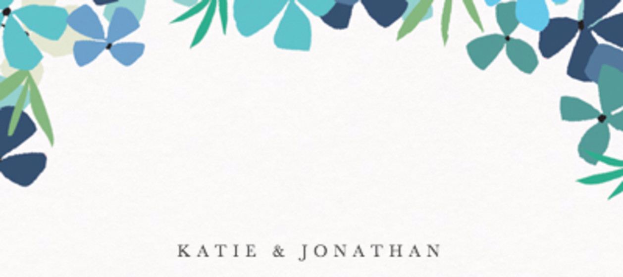 Hortensia Blue   Personalised Place Name