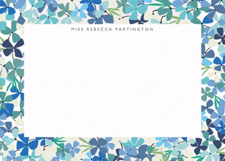 Hortensia Blue | Personalised Stationery Set