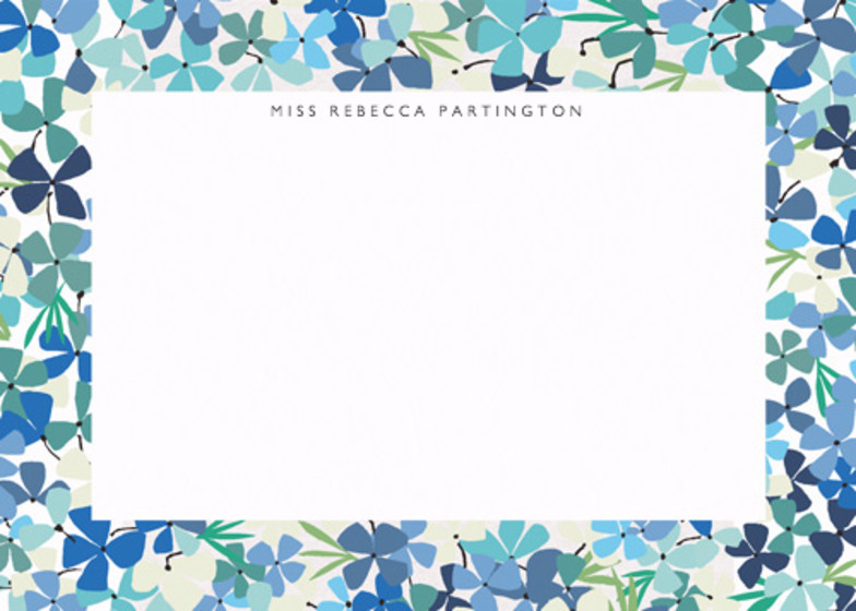 Hortensia Blue | Personalised Stationery Set