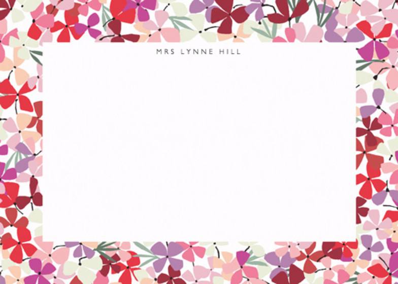 Hortensia Pink | Personalised Stationery Set
