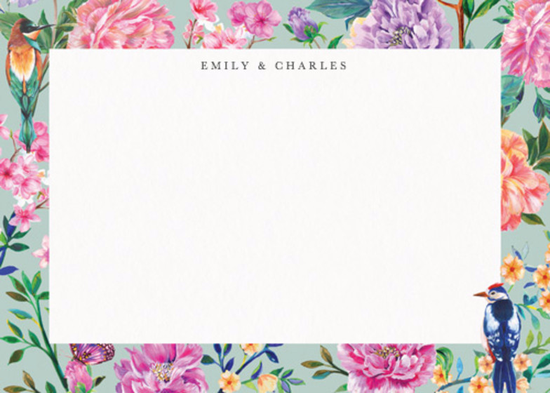 Duchess Garden Mint | Personalised Stationery Set