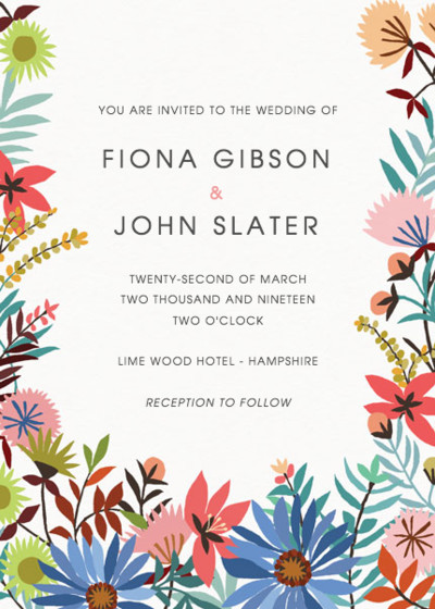 Meadow Flowers | Personalised Wedding Invitation