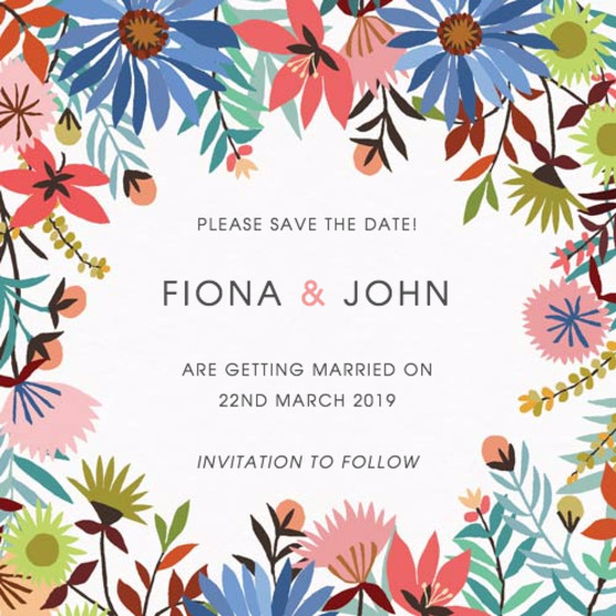 Meadow Flowers | Personalised Save The Date
