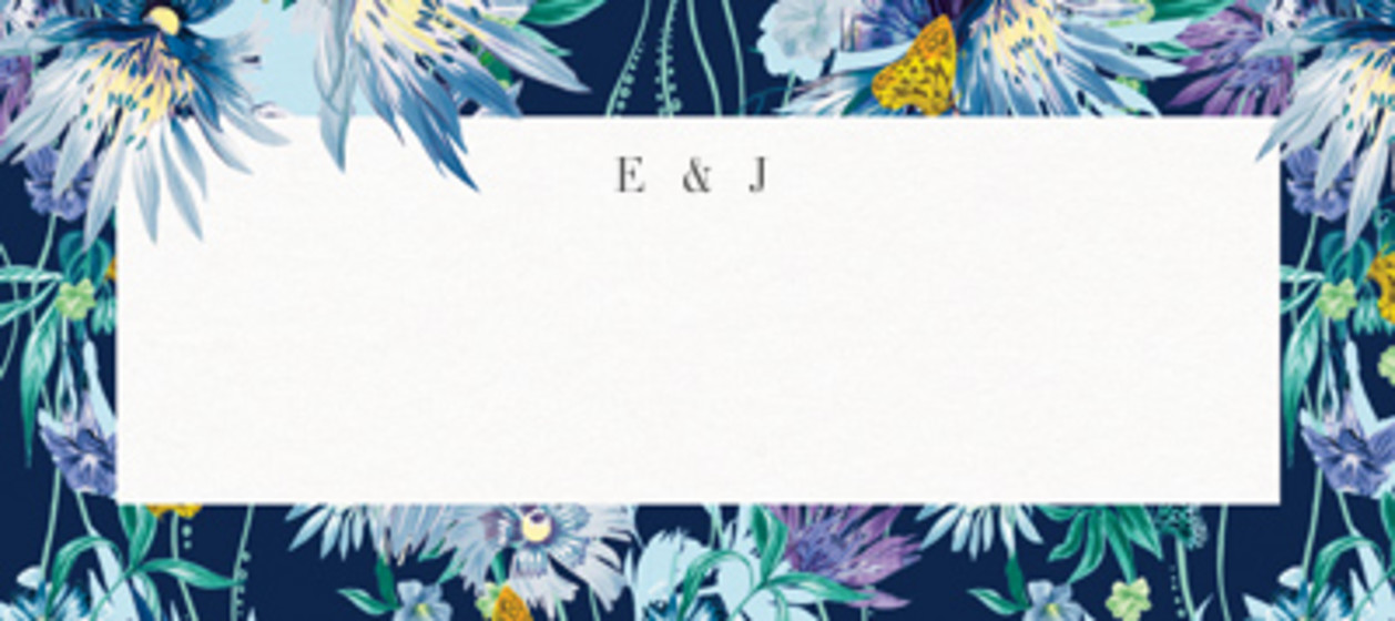 Jungle Bloom Midnight | Personalised Place Name