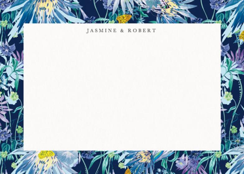 Jungle Bloom Midnight | Personalised Stationery Set