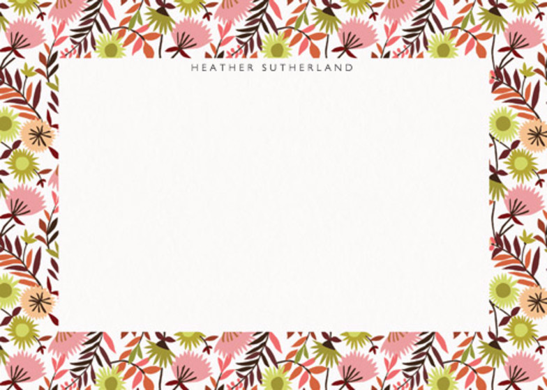 Meadow Flowers | Personalised Stationery Set