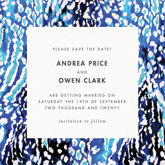 Akita Blue | Personalised Save The Date