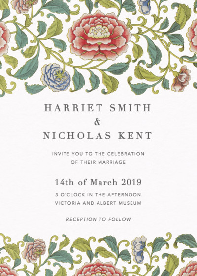 Chinese Florals | Personalised Wedding Invitation