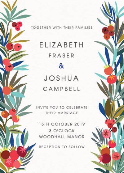 Autumn Berries | Personalised Wedding Invitation