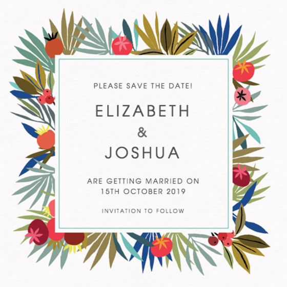 Autumn Berries | Personalised Save The Date