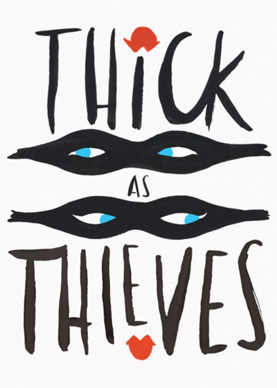 Thick As Thieves | Personalised Greeting Card