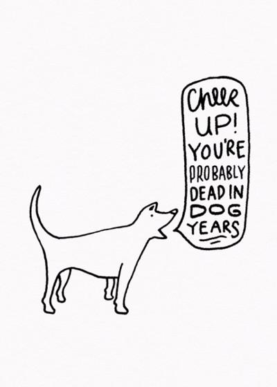 Dog Years | Personalised Birthday Card