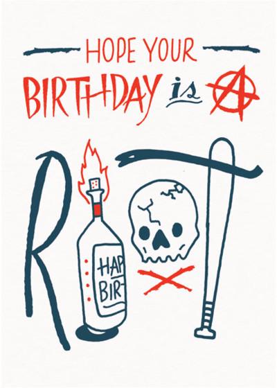 Birthday Riot | Personalised Birthday Card