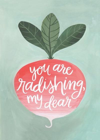 Radish | Personalised Greeting Card