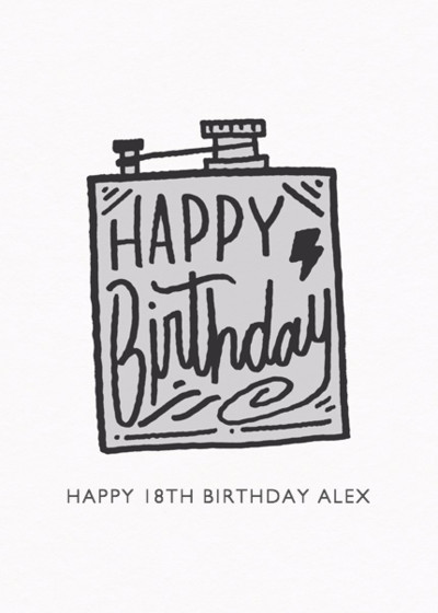 Birthday Flask | Personalised Birthday Card