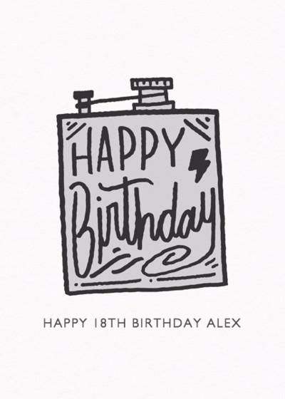 Birthday Flask | Personalised Birthday Card