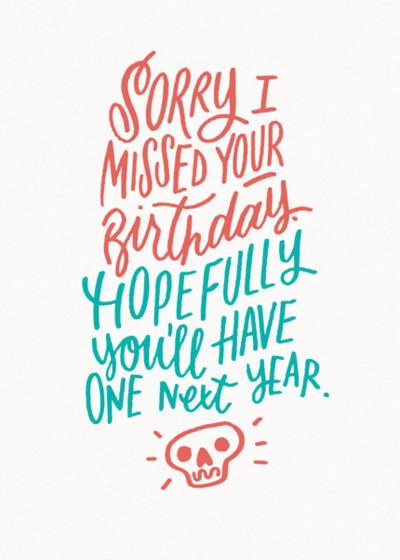 Belated Birthday | Personalised Birthday Card