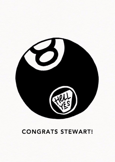 8 Ball | Personalised Congratulations Card