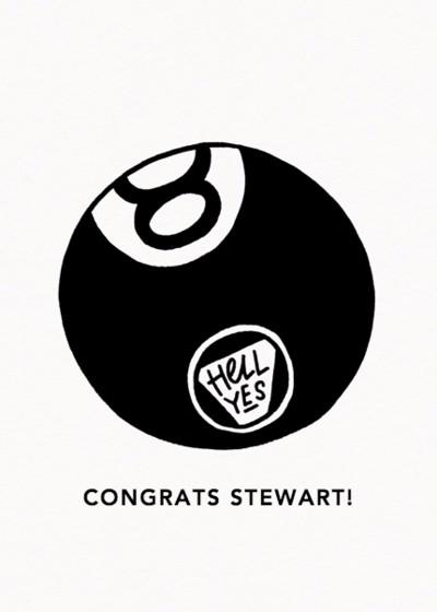 8 Ball | Personalised Congratulations Card