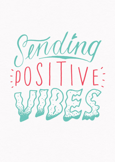 Positive Vibes | Personalised Greeting Card