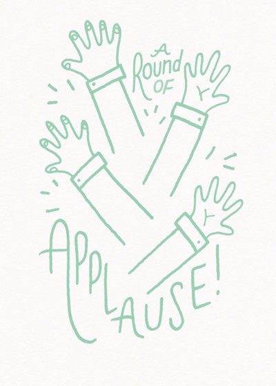 Round Of Applause | Personalised Congratulations Card