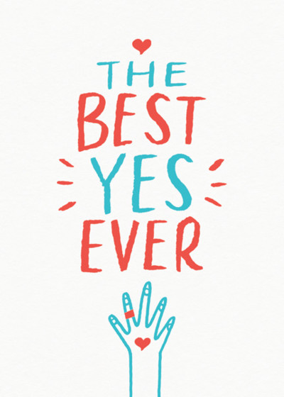 The Best Yes Ever | Personalised Congratulations Card